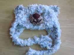 Crocheted Hat Blue Baby Bear